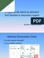Programe de calcul cu element finit folosite în