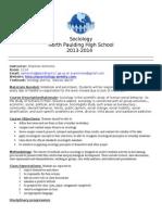 ammons sociology syllabus 2014