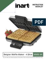 Cuisinart Belgian Waffle Maker 4 Slice WMB-4A