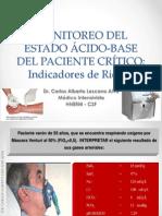 MONITOREO DEL ESTADO ÁCIDO-BASE DEL PACIENTE CRÍTICO