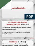 Lei 8112 - Aula 08 - Regime Disciplinar e Impossibilitado de Voltar a Ser Servidor Federal