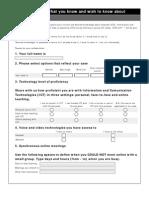ICTE Initial Survey