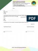 Surat Tanda Serah Terima Proposal