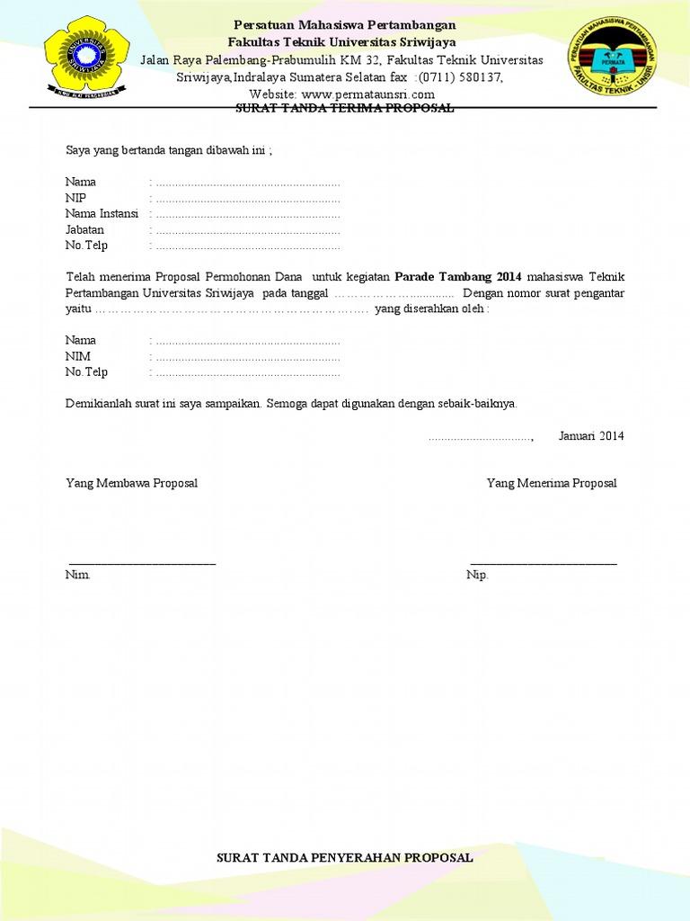 Surat tanda serah terima proposal thecheapjerseys Gallery