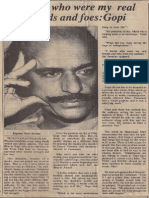 Interview Indian Express July 12 1992