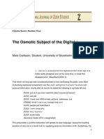 Matts Carlsson the Osmotic Subject of the Digital