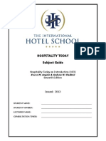 Hospitality Today Subject Guide 2013