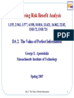 Engineering risk benefit analysis