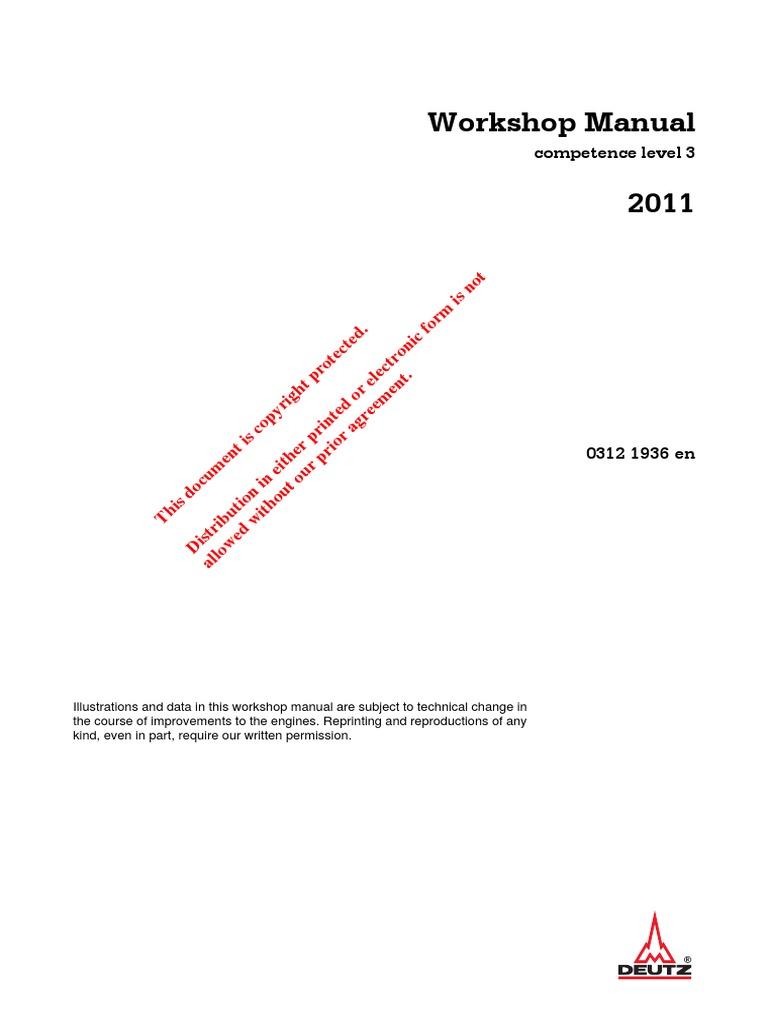 deutz 0312 1936 2011 diesel engine engineering tolerance rh es scribd com