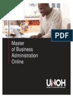 UNOH MBA Brochure