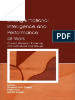 Linking Emotional Intelligence and Performance at Work