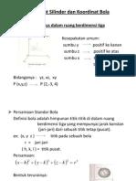 Koordinat Silinder Dan Bola