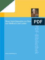 Neue Gesichtspunkte zur Beurteilung von Welkisch und Lorber