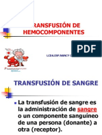 TRANSFUCIÓN DE HEMODERIVADOS GRUPO NORMA