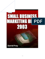 (eBook) - David Frey - The Small Business Marketing Bible 2003 (312 Pages)