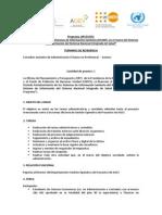 TDR FIN Asistente Administrativo AGEV 2014 Publicado