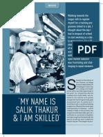 CSR Times, Article on Skills Development, December 2013