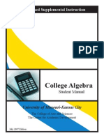 College Algebra Manual Student Lecture01