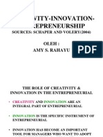 Creativity, Innovation, Entrepreneurship