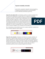 Espectro de emisión y absorción