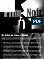 Film Noir Codes, Conventions, Culture