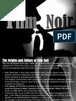 Film Noir Codes, Conventions, Culture