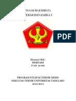 Tugas III Termodinamika I (Exergy)