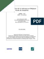 Un Barometre de La Tolerance en Belgique - Etude de Faisabilite