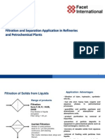 Filtration and Separation in Refineries