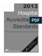 The Joint Commission Accreditation Standards Scoring Criteria