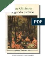 Gimferrer Pere - Segundo Dietario 1980 1982
