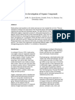 Comparative Investigation of Organic Compounds