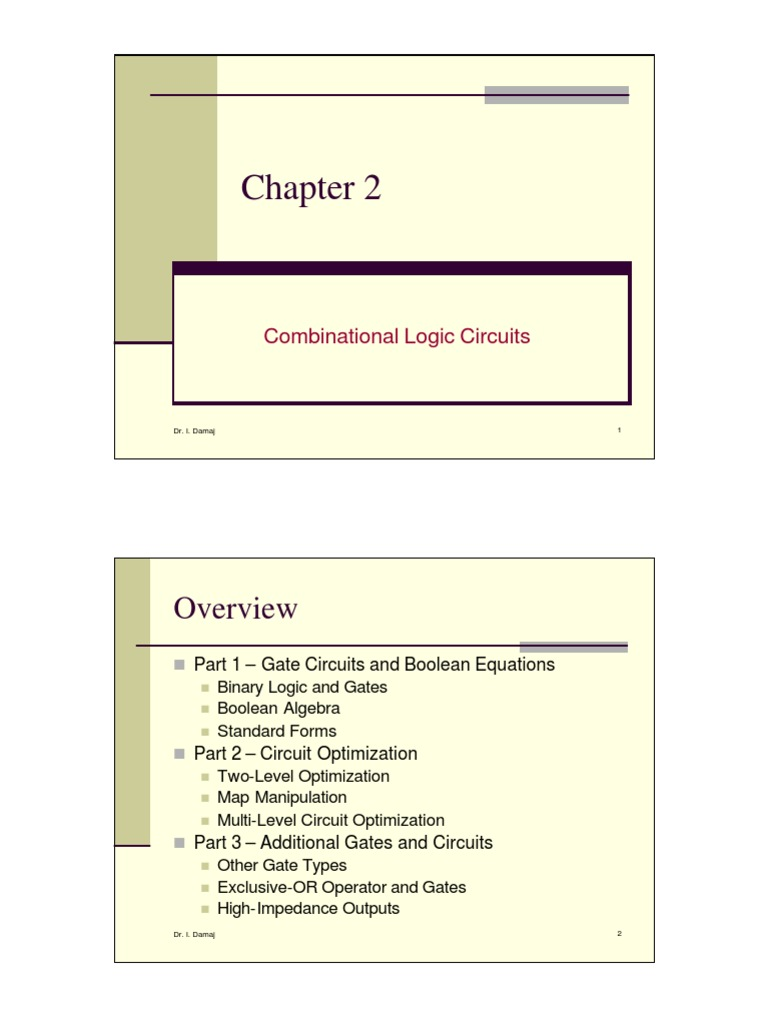Ch2 Com Bi National Logic Circuits Boolean Algebra Mathematical Gates And Circuit