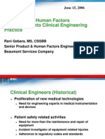 human factors applications in clinical engineering