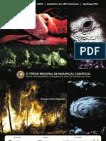 Programação Fórum Mudanças Climáticas