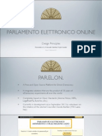 PARELON (Electronic Online Parliament) Presentation Slides (English Version)