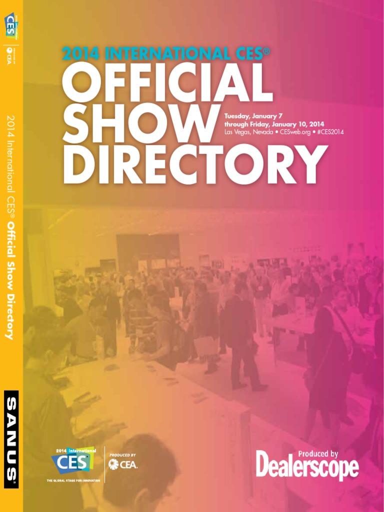 2014 international ces official show directory international rh es scribd com
