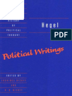 Hegel, G.W.F. - Political Writings (Cambridge, 2004)