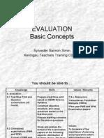 Lesson 5a Evaluation Basic Concepts