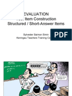 Lesson 5d Short-Answer Items Construction