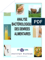 Analyse Bacteriologique Des Denrees Alimentaires