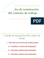 Causales Terminacion Contrato Trabajo 25 Ago