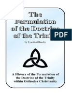 The Formulation of the Doctrine of the Trinity