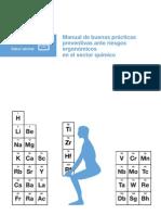Manual de buenas prácticas preventivas ante riesgos ergonómicos en el sector químico