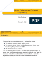 Analysis of Musical Preferences and Orchestral Programming