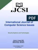 International Journal of Computer Science Issues (IJCSI), Volume 2, August 2009