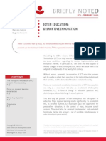 ICT in Education- Disruptive Innoffvation