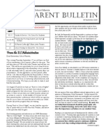 ES Parent Bulletin Vol#2 2009 Sept 9