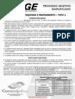 Consulplan Agente de Pesquisas e Mapeamento Tipo 2552