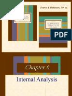Strategic Management Internal Analysis